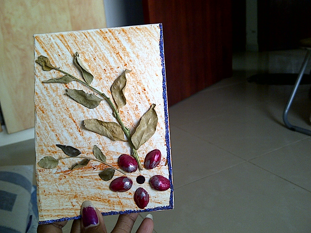 Greeting card from waste materials make use of waste for Out of waste material