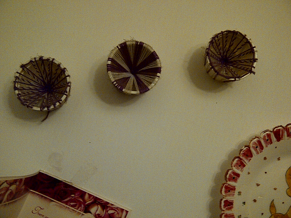 Wall Decor From Waste Materials : Wall decor with disposable plates glasses make use of